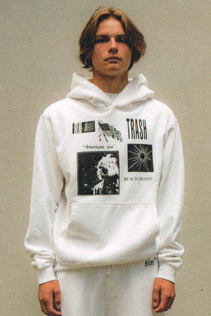 Patches Hood - White