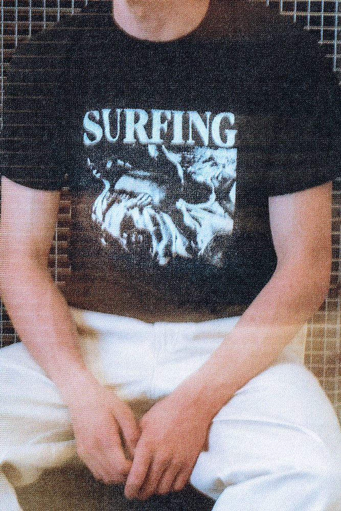 Surfing Tee - Black & White