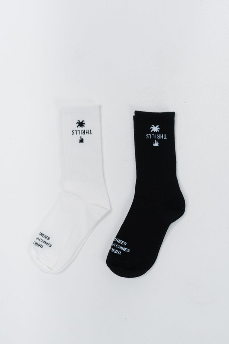 Thrills Classic Sock 2 Pack - Black / Dirty White