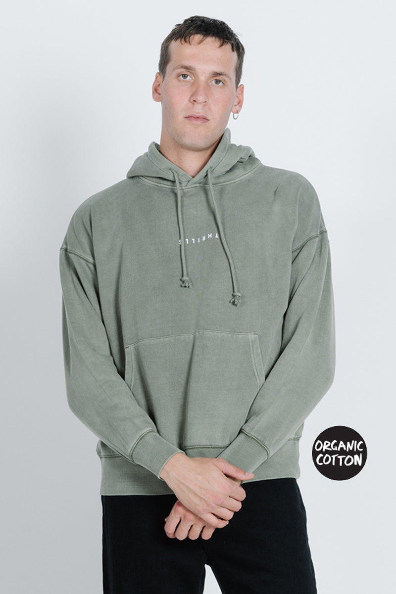 Minimal Thrills Slouch Pull on Hood - Army Green