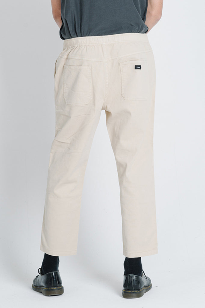 Clear Light Chopped Elastic Surf Pant - Thrift White