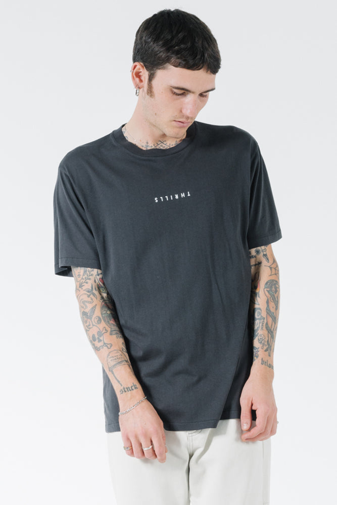Load image into Gallery viewer, Minimal Thrills Merch Fit Tee - Heritage black