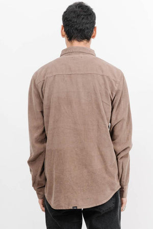 Load image into Gallery viewer, Canyon Corduroy Long Sleeve Shirt - Overdyed Desert