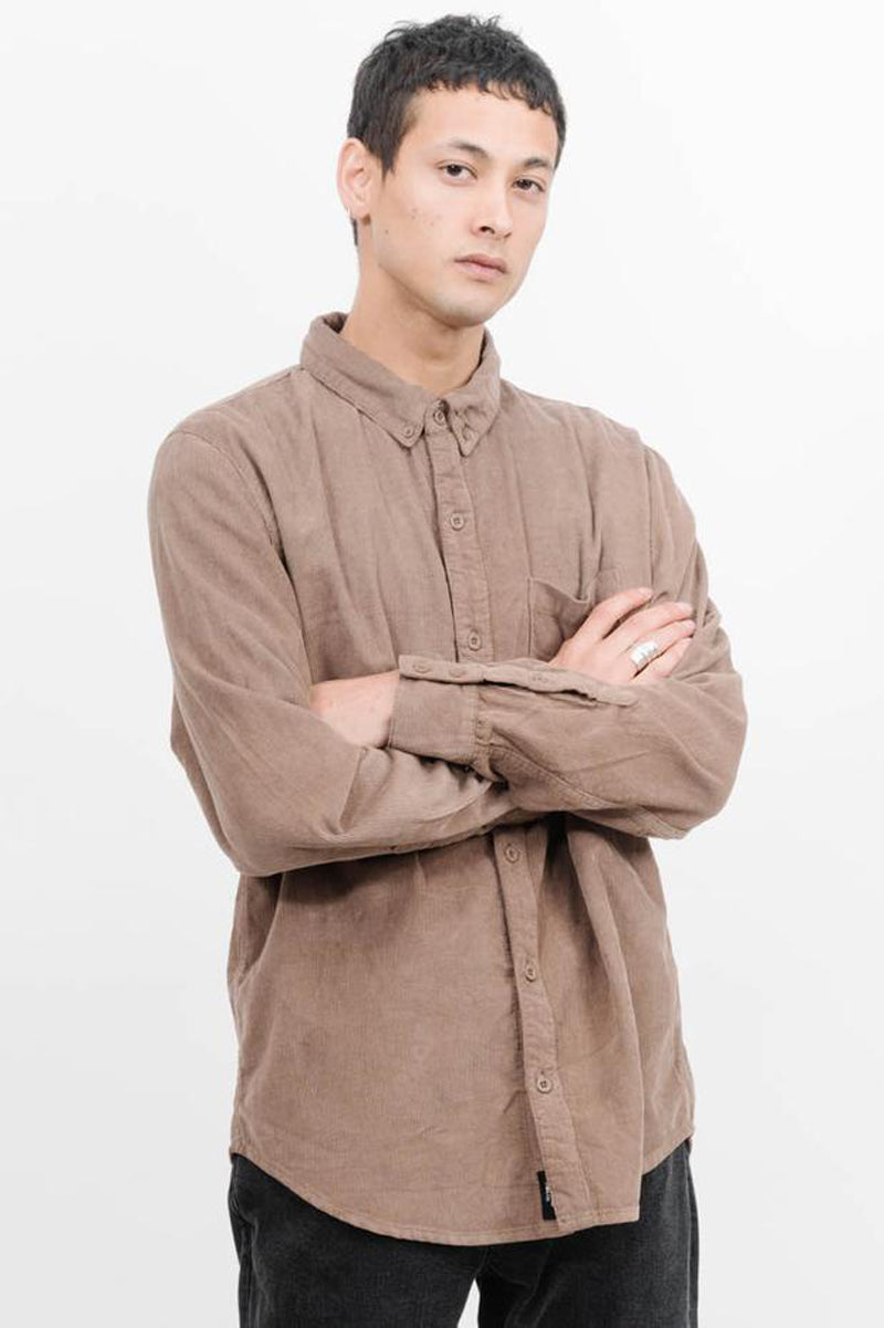 Canyon Corduroy Long Sleeve Shirt - Overdyed Desert