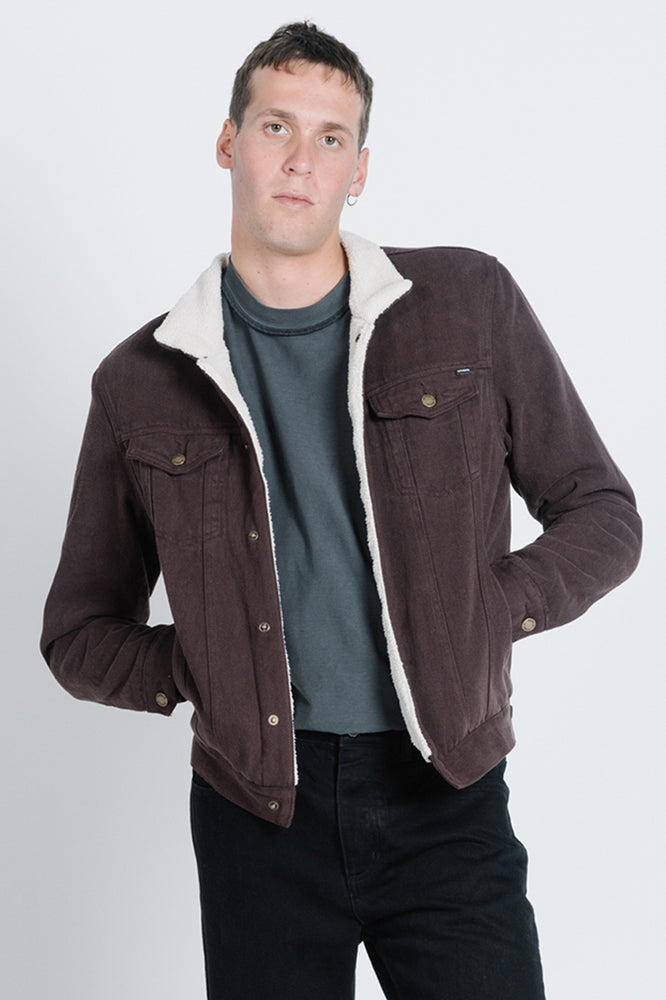 Sherpa Wanderer Denim Jacket - Postal Brown
