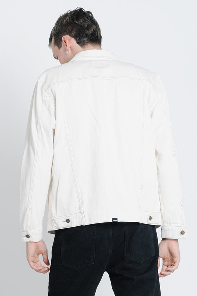 Ryder Oversized Denim Jacket - Shady White