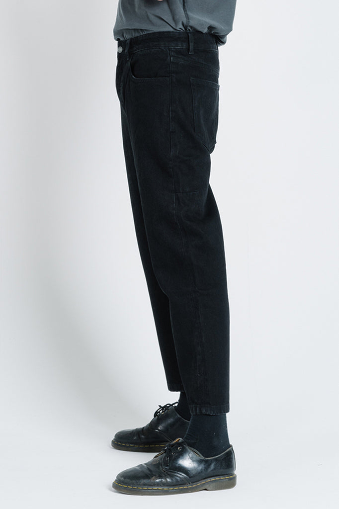 Chopped Denim Jean - Black