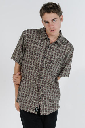 Load image into Gallery viewer, Disclosure Short Sleeve Shirt - Tan