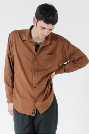 Load image into Gallery viewer, Minimal Thrills Oversized L/S Shirt - Bison