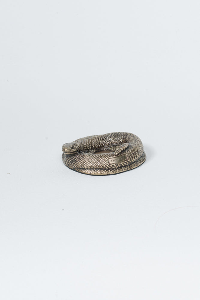 Rattlesnake Incense Holder - Brass