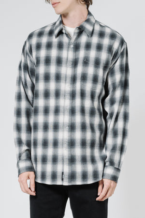 Load image into Gallery viewer, Angel Check LS Shirt - Steel Grey