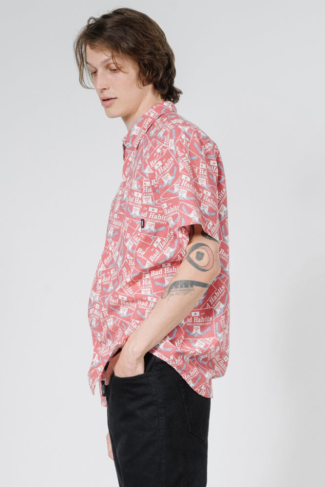 Load image into Gallery viewer, Bad Habits SS Shirt - Red