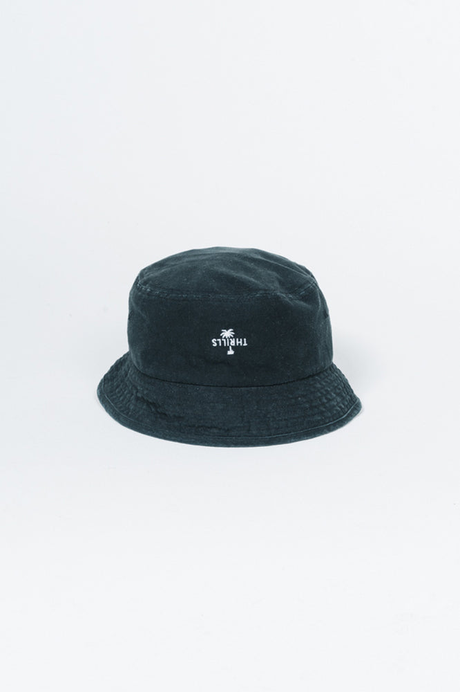 Load image into Gallery viewer, Palm Embro Bucket Hat - Black