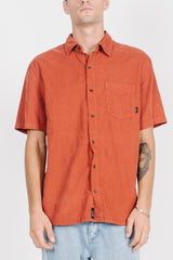 Stranded Short Sleeve Shirt - Rocker Red
