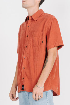 Load image into Gallery viewer, Stranded Short Sleeve Shirt - Rocker Red