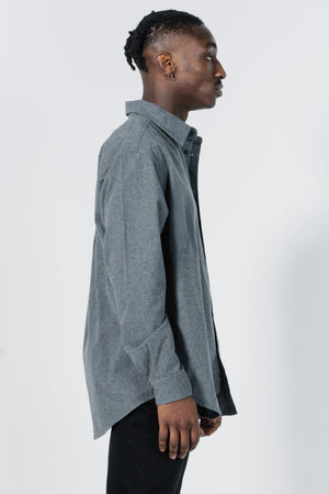 Load image into Gallery viewer, Legion Oversize Long Sleeve Shirt - Grey Marle
