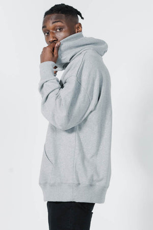 Legion Slouch Pull On Hood - Grey Marle