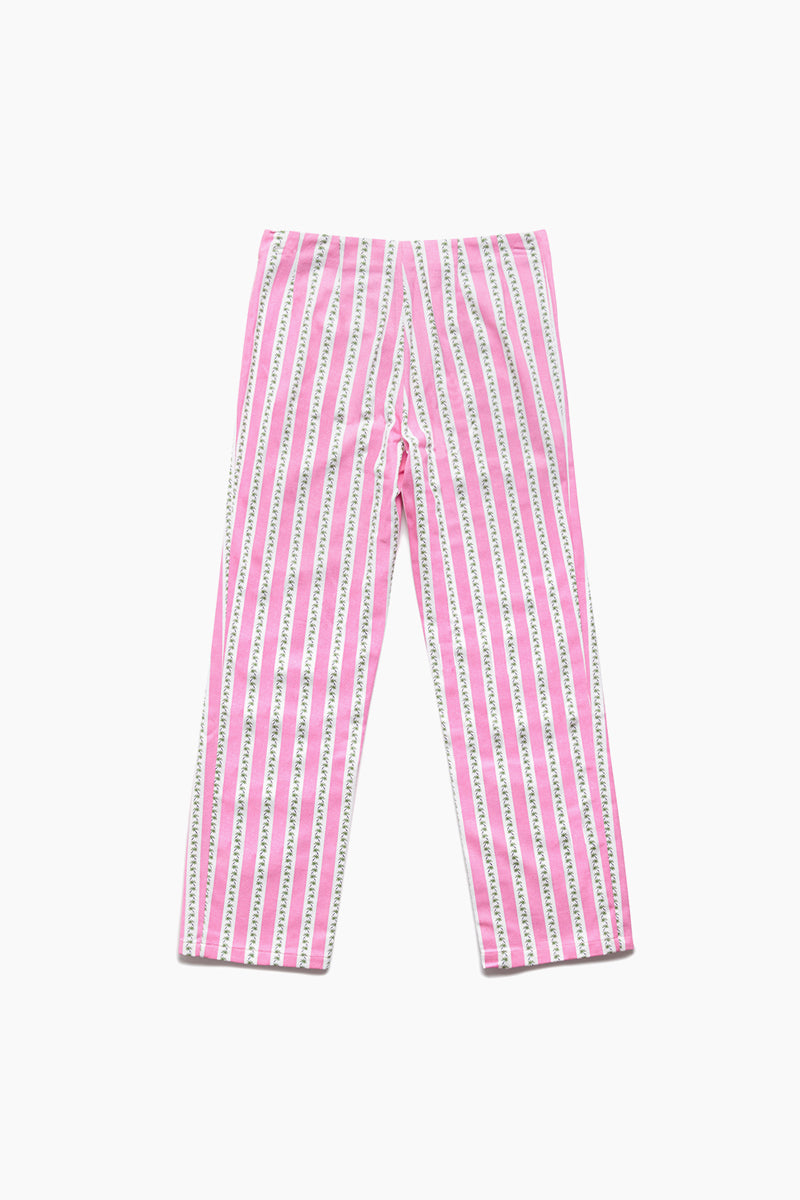 Vacation Stripe Pant - Cotton Candy