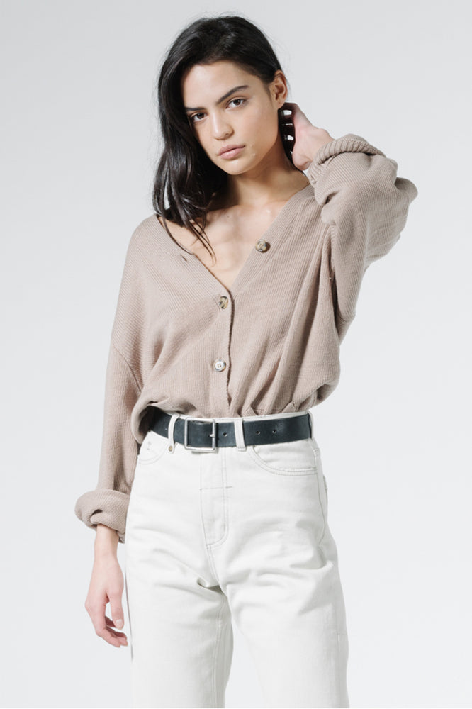 Load image into Gallery viewer, Courtney Cardigan - Vintage Khaki
