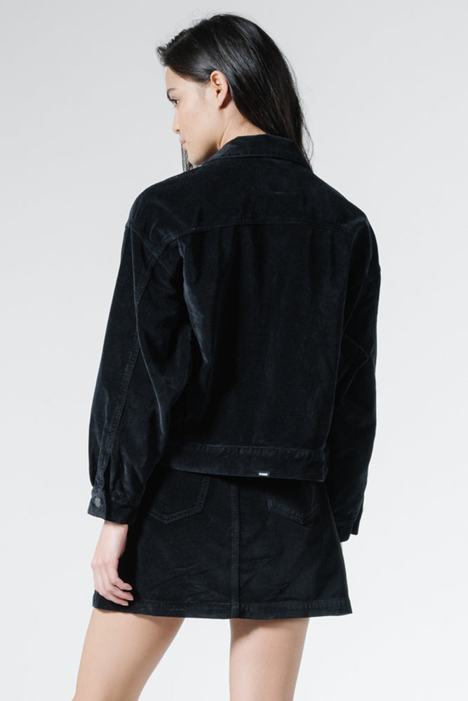 Jessie Velvet Jacket - Black