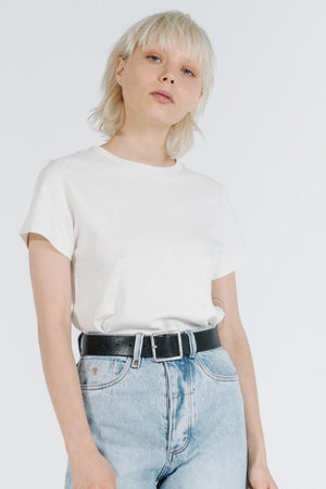 Hemp Slim Tee - Dirty White