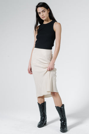 Manor Bias Skirt - Vintage Bone