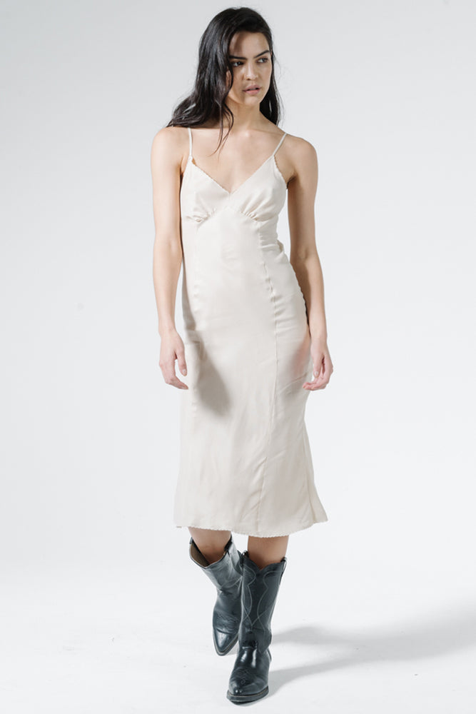 Estate Midi Slip Dress - Vintage Bone