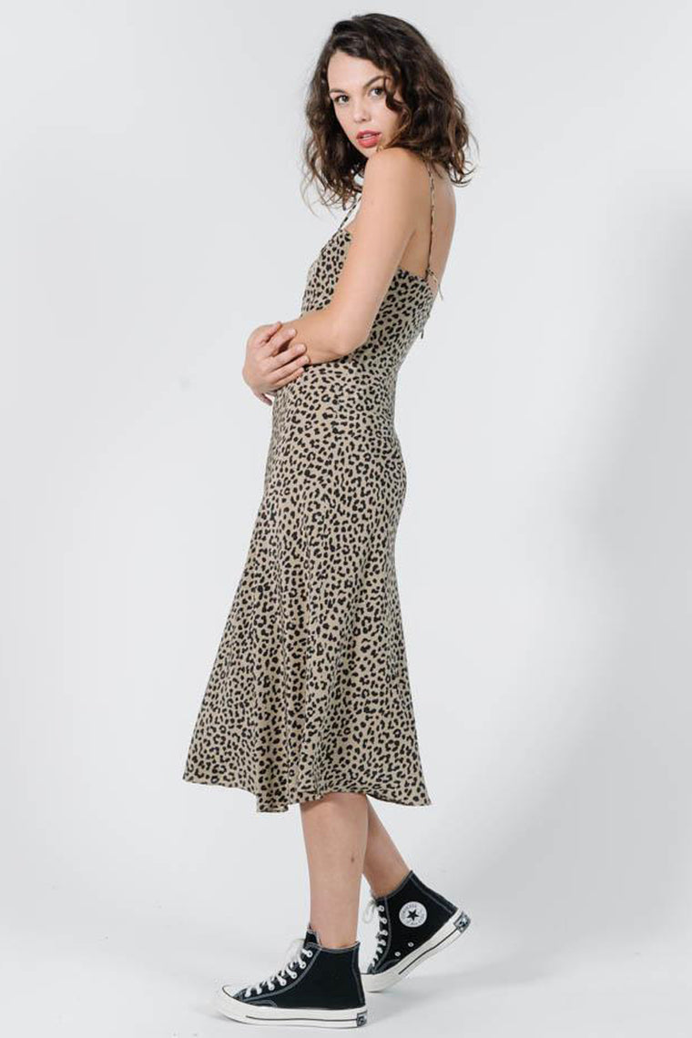 Primal Slip Dress - Leopard