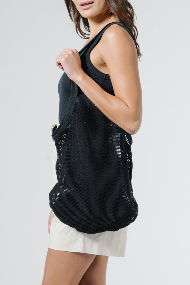 Load image into Gallery viewer, Mesh Slouch Bag - Black