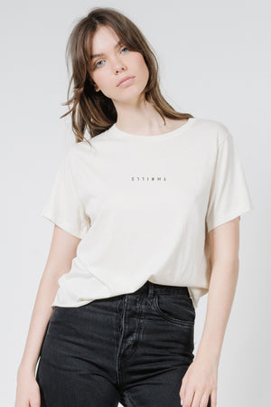 Load image into Gallery viewer, Minimal Thrills Relaxed Tee - Unbleached