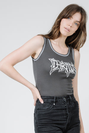 What We Believe Rib Singlet - Merch Black