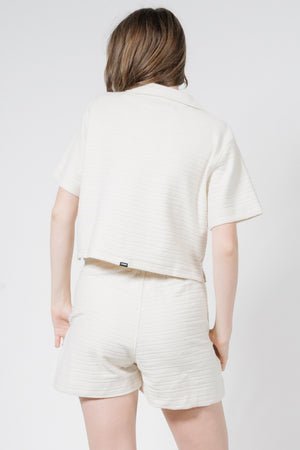 Terry Crop Shirt - Unbleached