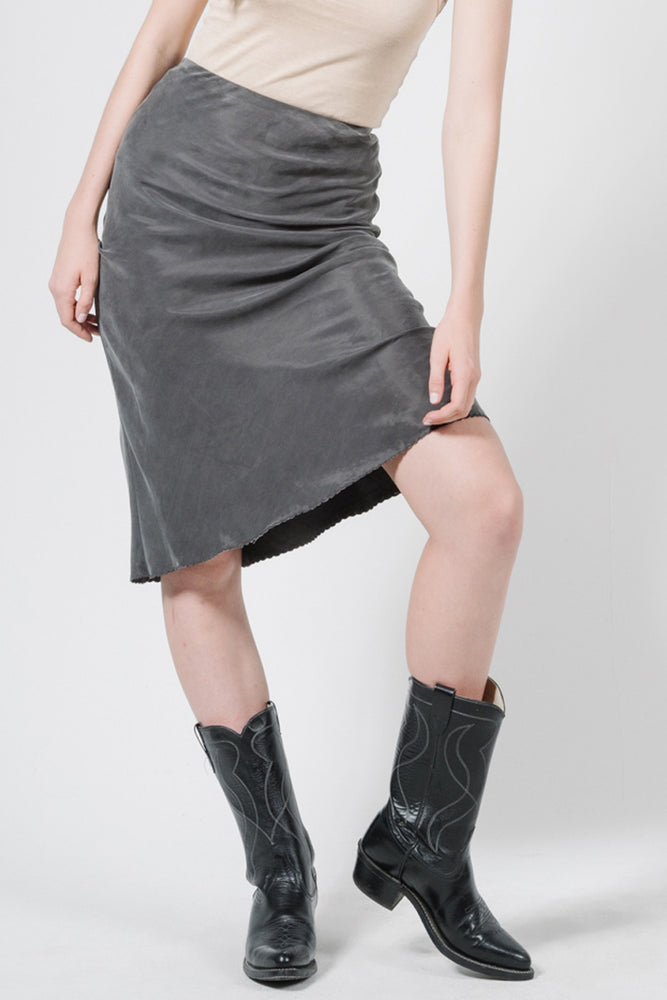 Load image into Gallery viewer, Manor Bias Skirt - Merch Black