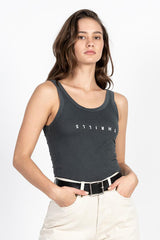 Minimal Thrills Retro Tank - Merch Black