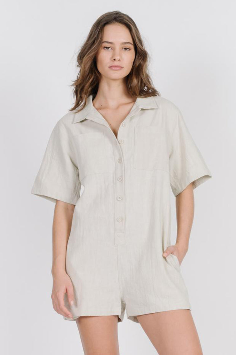 Safari Playsuit - Peyote