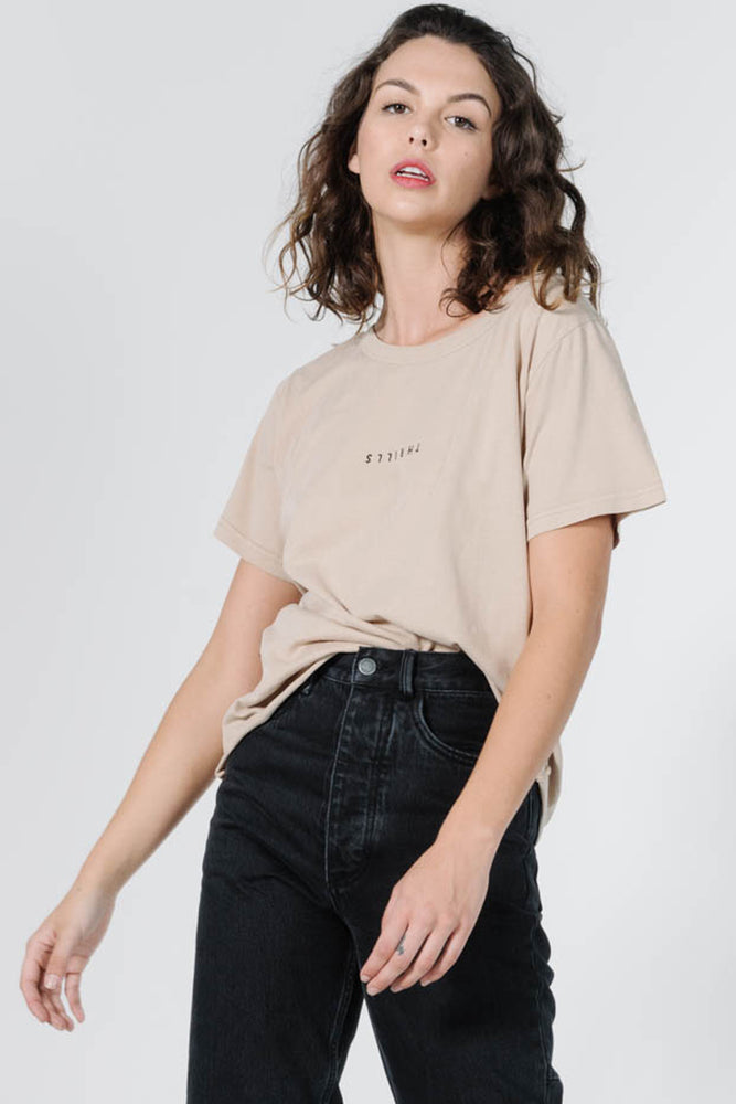 Minimal Thrills Loose Fit Tee - Oxford Tan