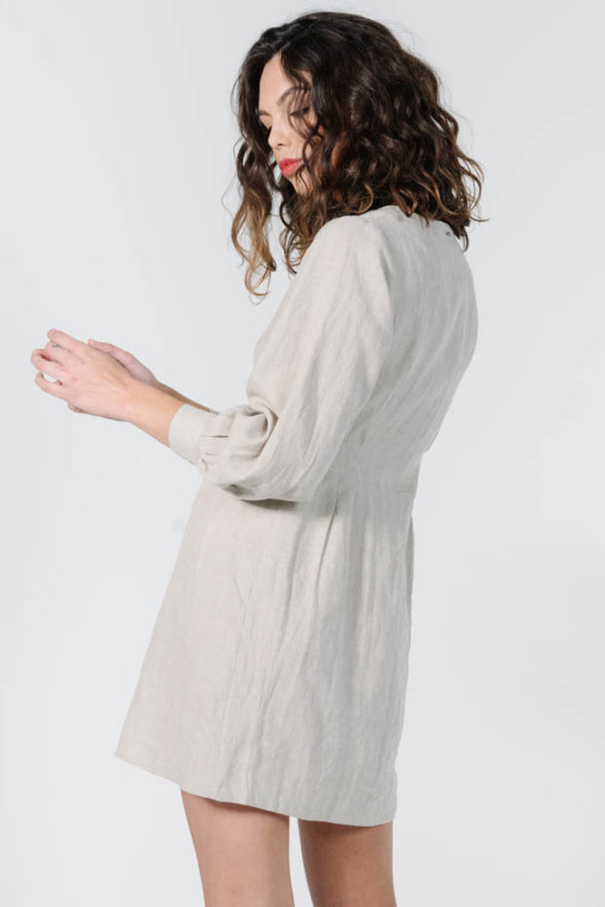 Chrissy LS Dress - Oat