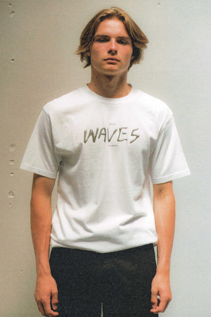 Load image into Gallery viewer, Waves Tee - White