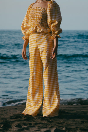 Charlie Pant - Gingham - Sunshine Yellow