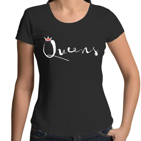 Queens - Womens Scoop Neck T-Shirt