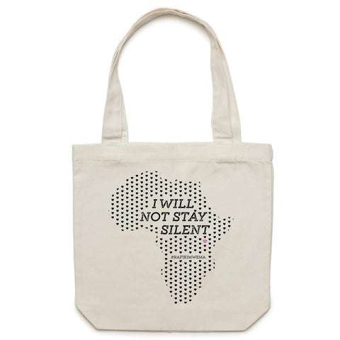 Silent Africa Canvas Tote Bag