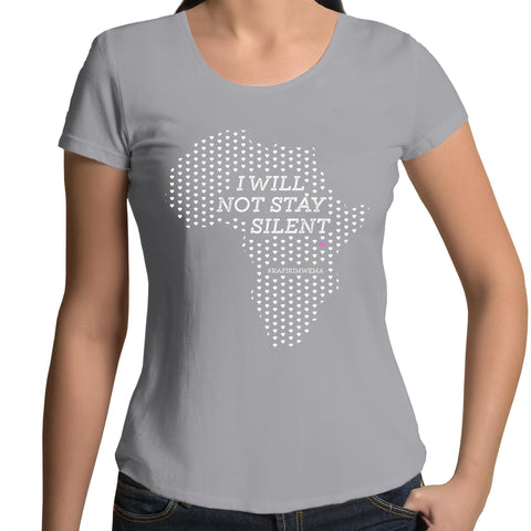 Silent Africa - Womens Scoop Neck T-Shirt