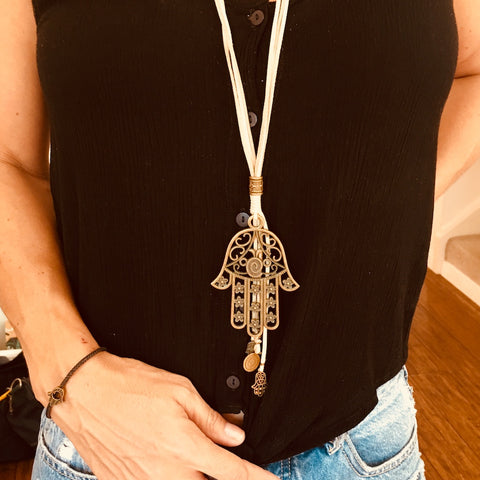Hand of Fatima/Rafiki Necklace