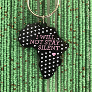 """I will not stay silent"" Keyring"