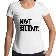 Not Silent Scoop Neck T