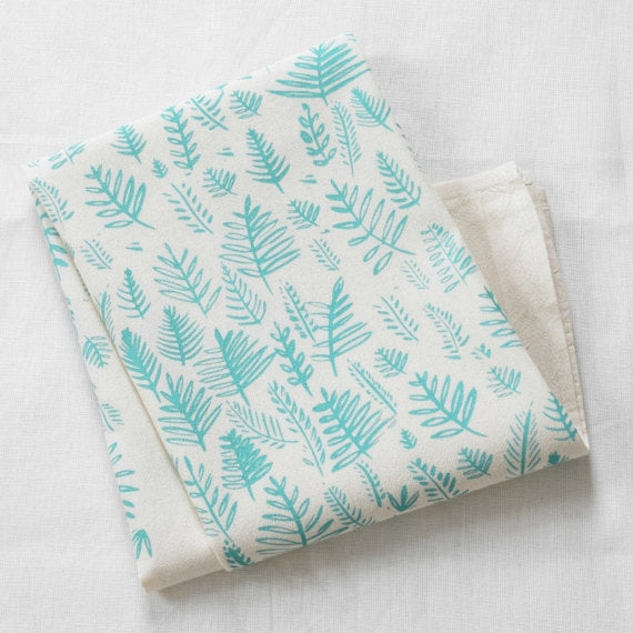 Fern Tea Towel in Mint