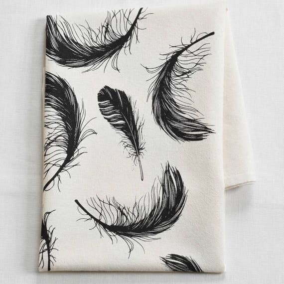 Feathers Tea Towel