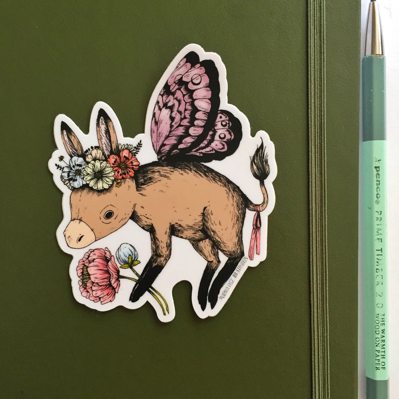 Donkey Fairy Sticker