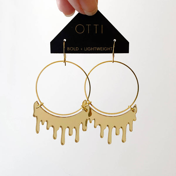 Slime Hoops in Mirrored Gold