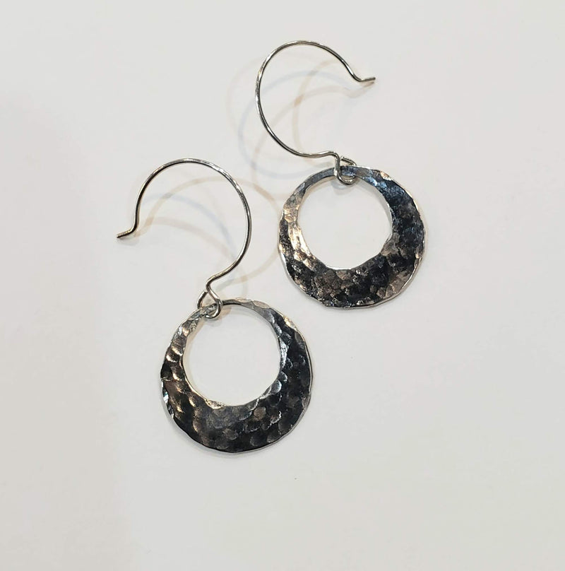 Small Hammered Mod Earrings
